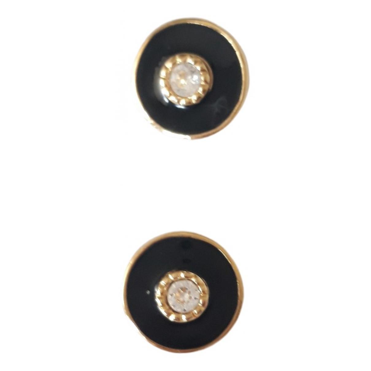 Non Signé / Unsigned \N Black Metal Earrings for Women \N
