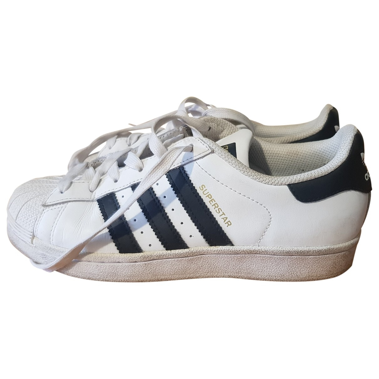 Adidas Superstar White Leather Trainers for Women 38 EU