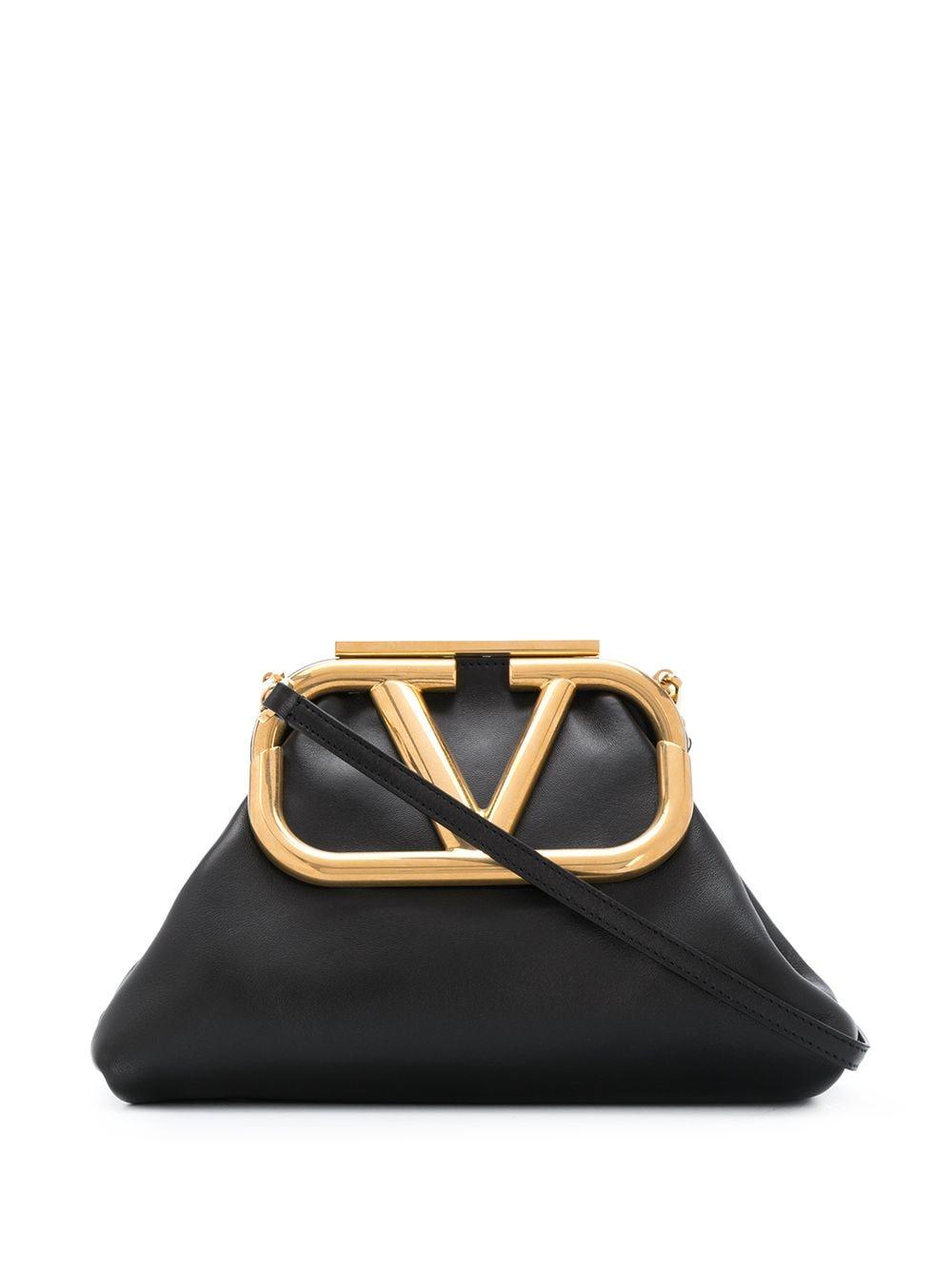 Super V Leather Shoulder Bag