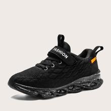 Boys Fish Scale Design Velcro Strap Sneakers