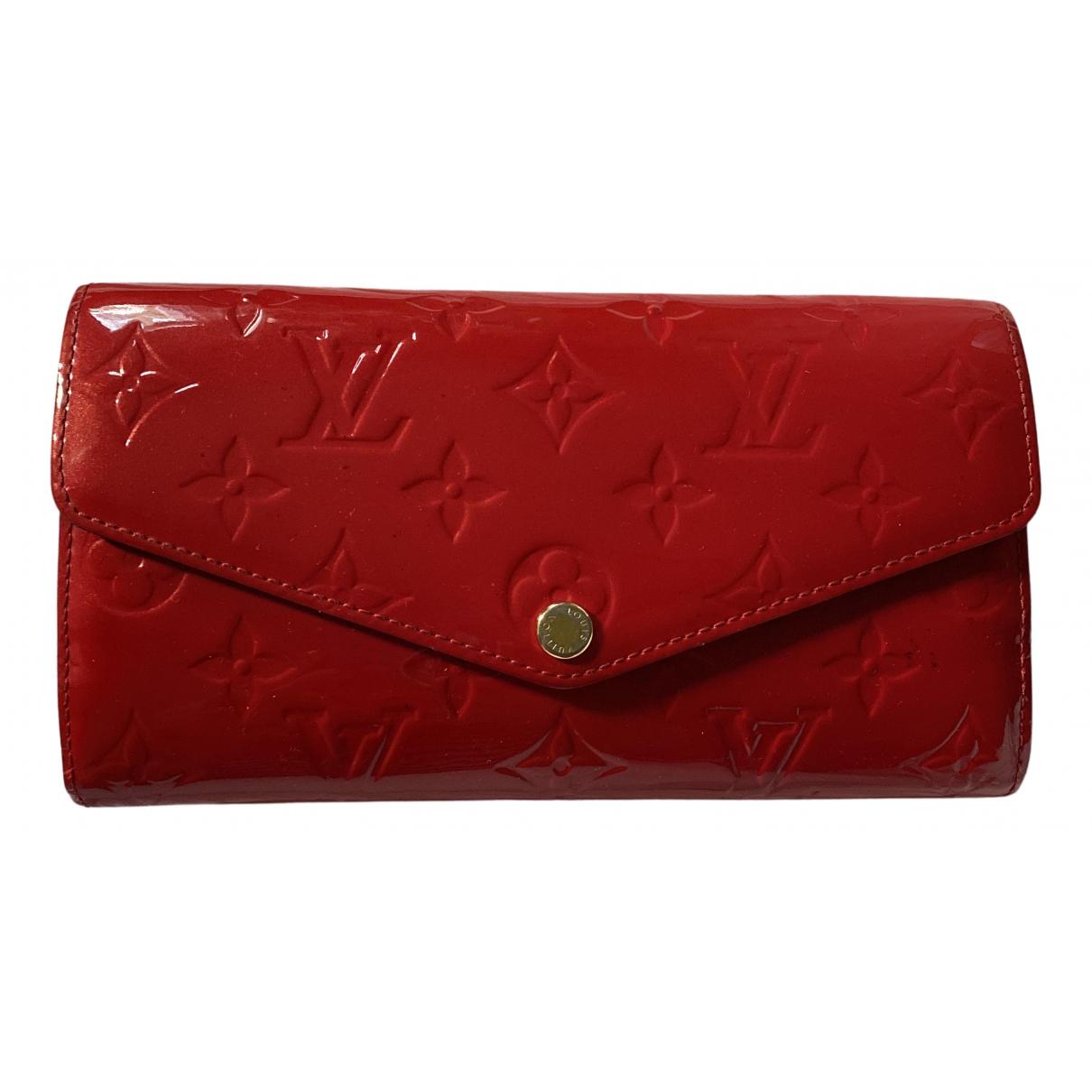 Louis Vuitton - Petite maroquinerie   pour femme en cuir verni - rouge