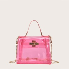 Twist Lock Clear Satchel Bag