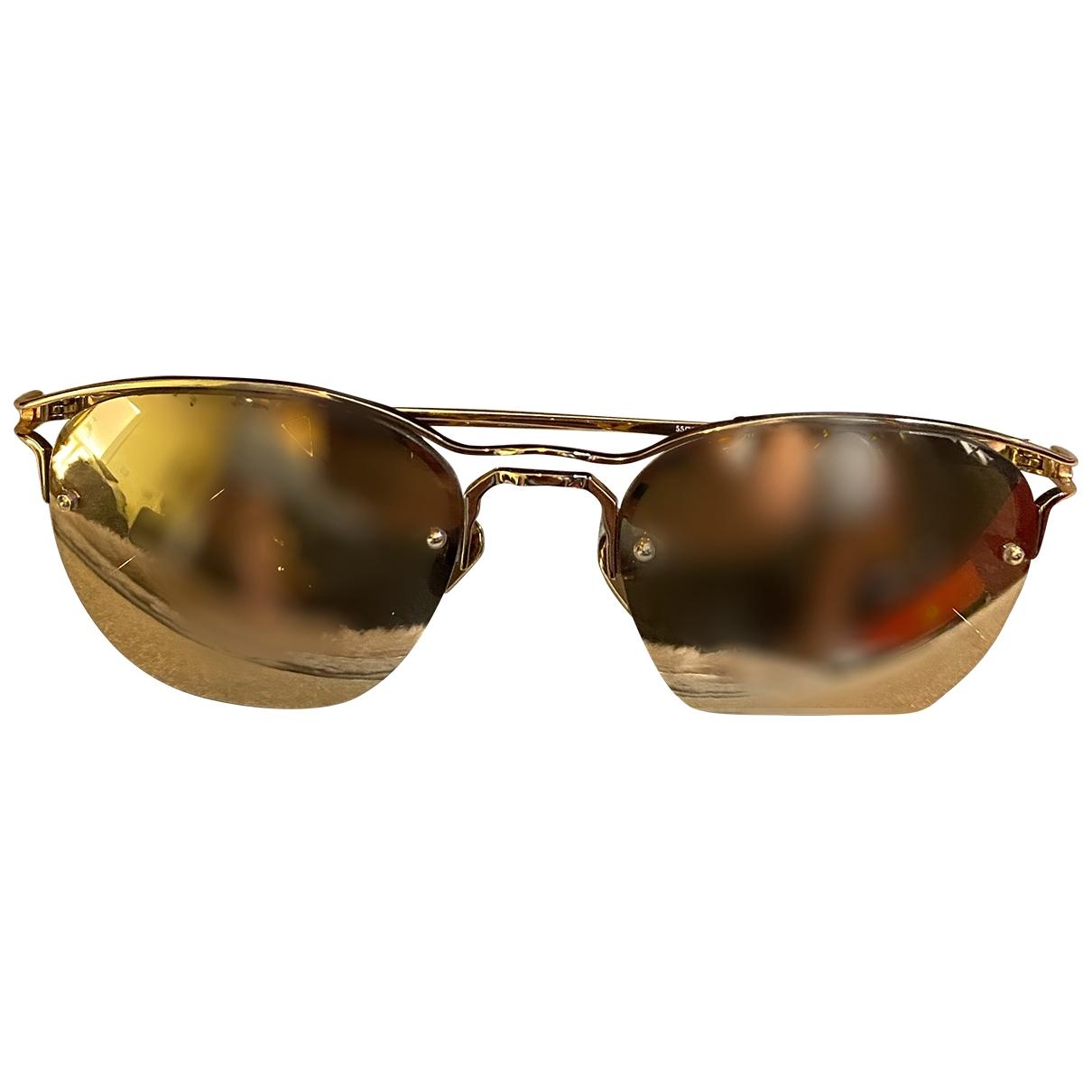 Linda Farrow \N Gold Metal Sunglasses for Women \N