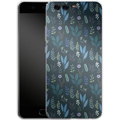 Huawei P10 Silikon Handyhuelle - Blue Foliage von Iisa Monttinen