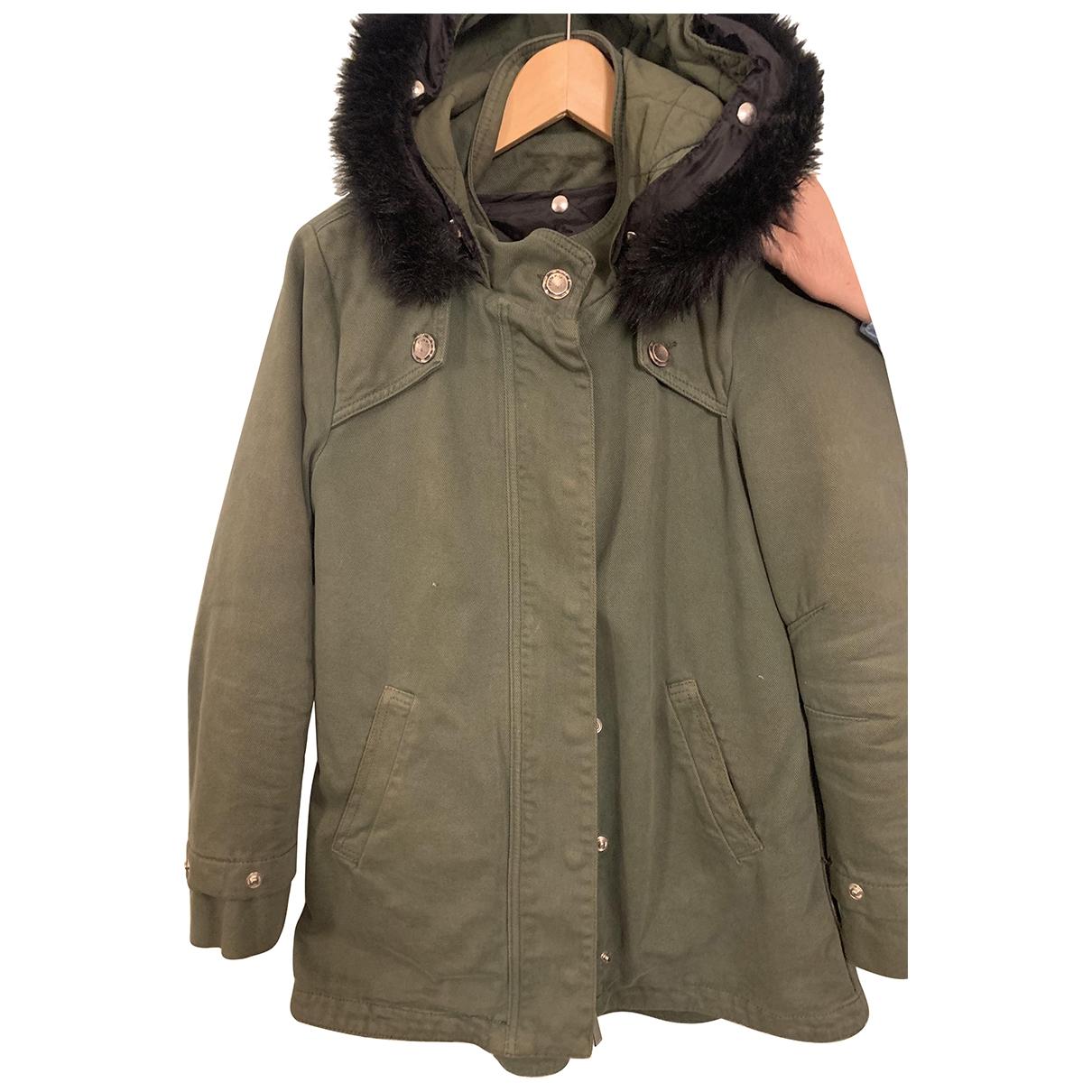Pinko \N Green Cotton jacket for Women 40 IT