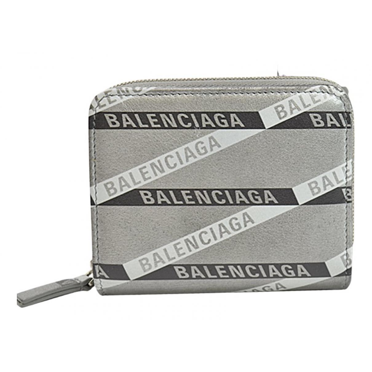 Balenciaga - Portefeuille   pour femme en cuir - multicolore