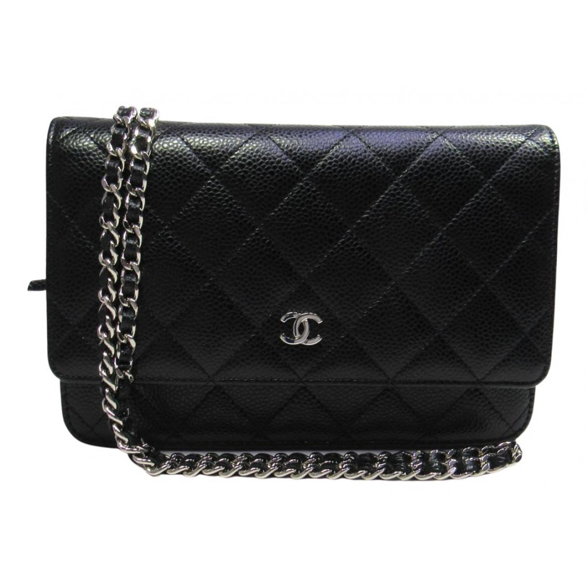 Chanel Wallet on Chain Handtasche in  Schwarz Leder
