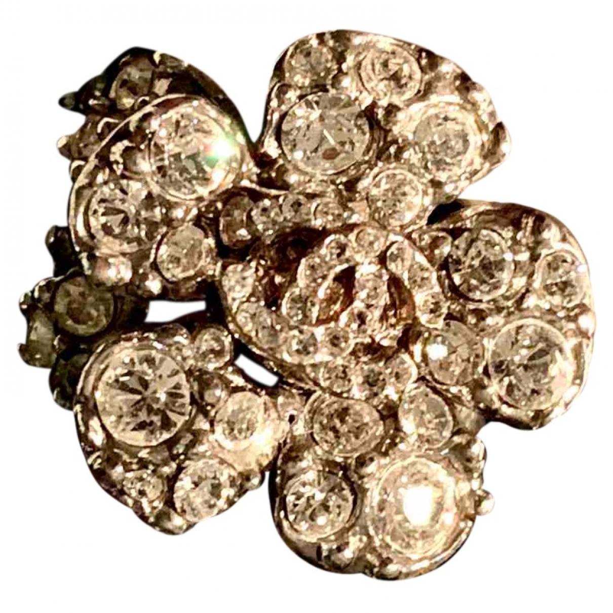 Chanel - Bague Camelia pour femme en acier - argente