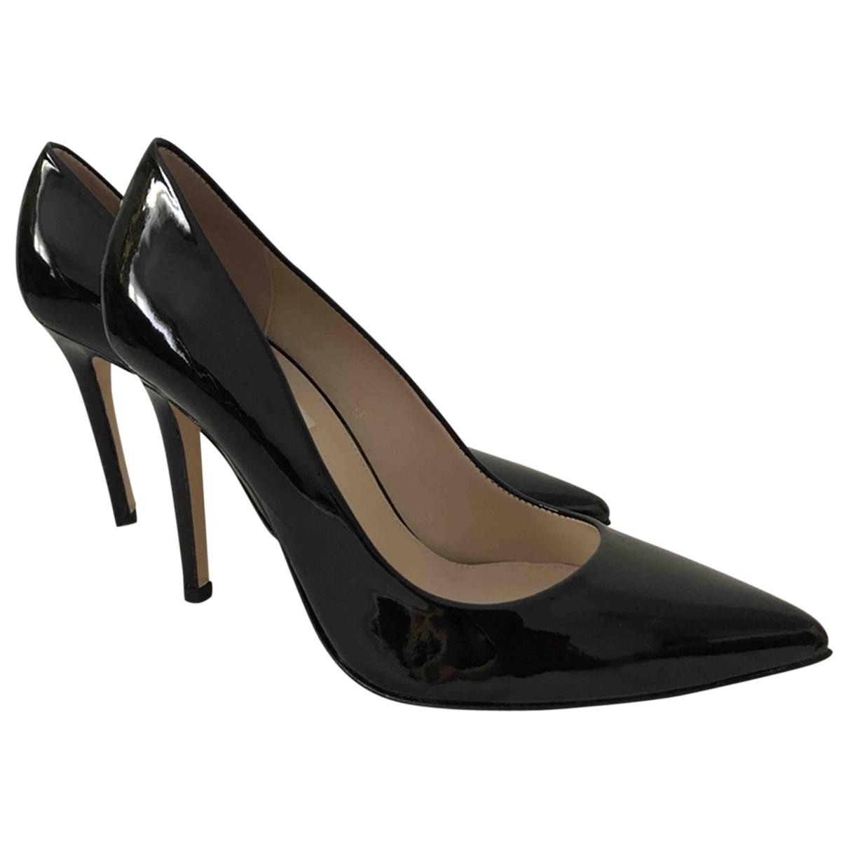 Whistles - Escarpins   pour femme en cuir verni - noir