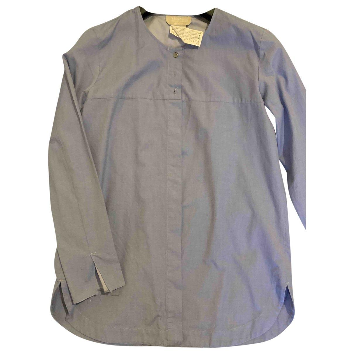 Max Mara 's \N Blue Cotton  top for Women 42 IT