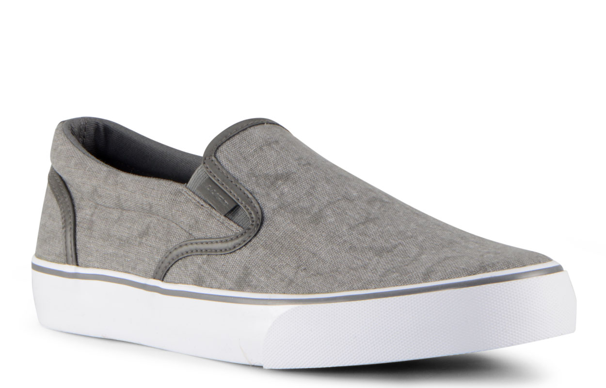 Men's Clipper 2 Slip-On Sneaker (Choose Your Color: GREY/SHADOW/WHITE, Choose Your Size: 7.0)