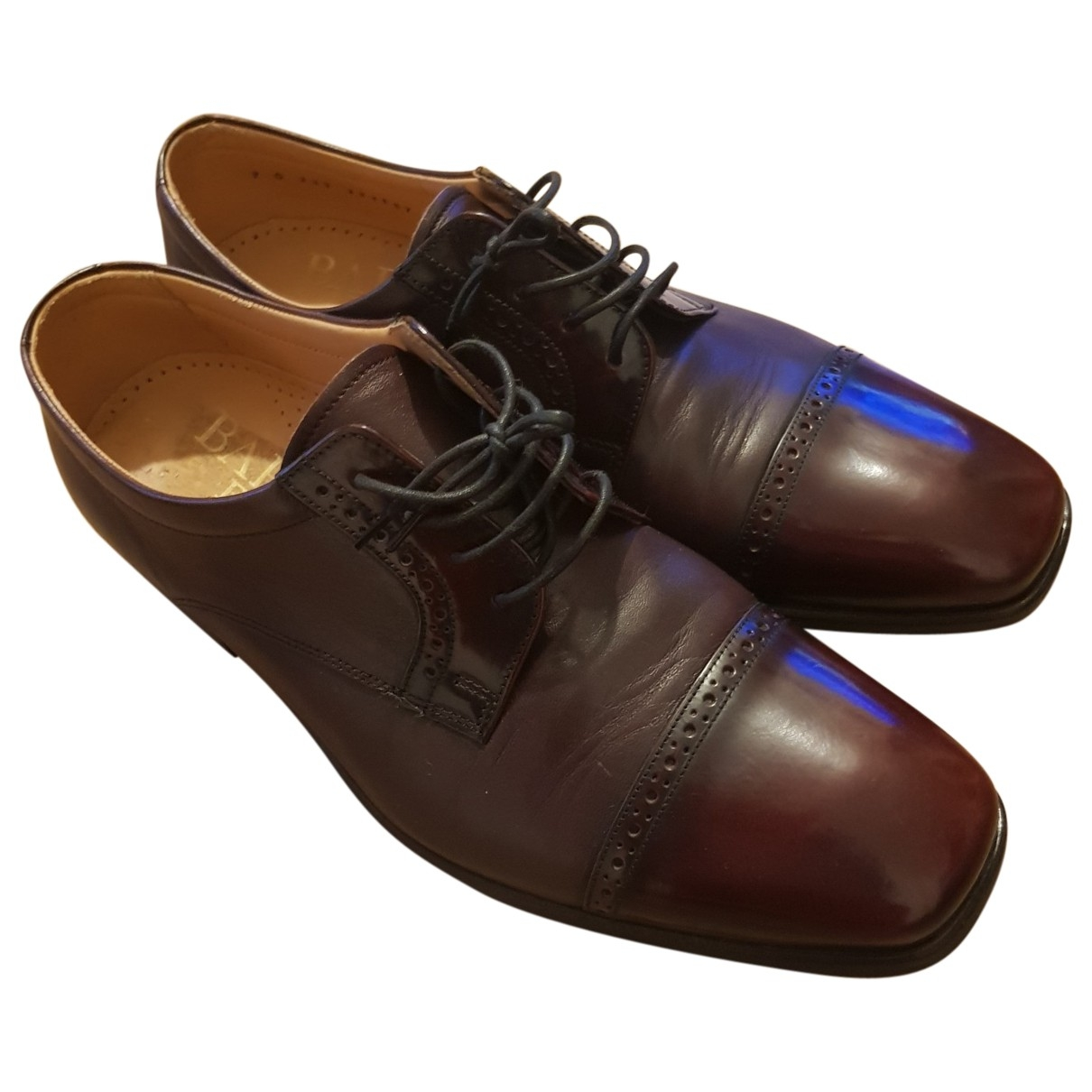 Barker \N Brown Leather Flats for Men 7 UK