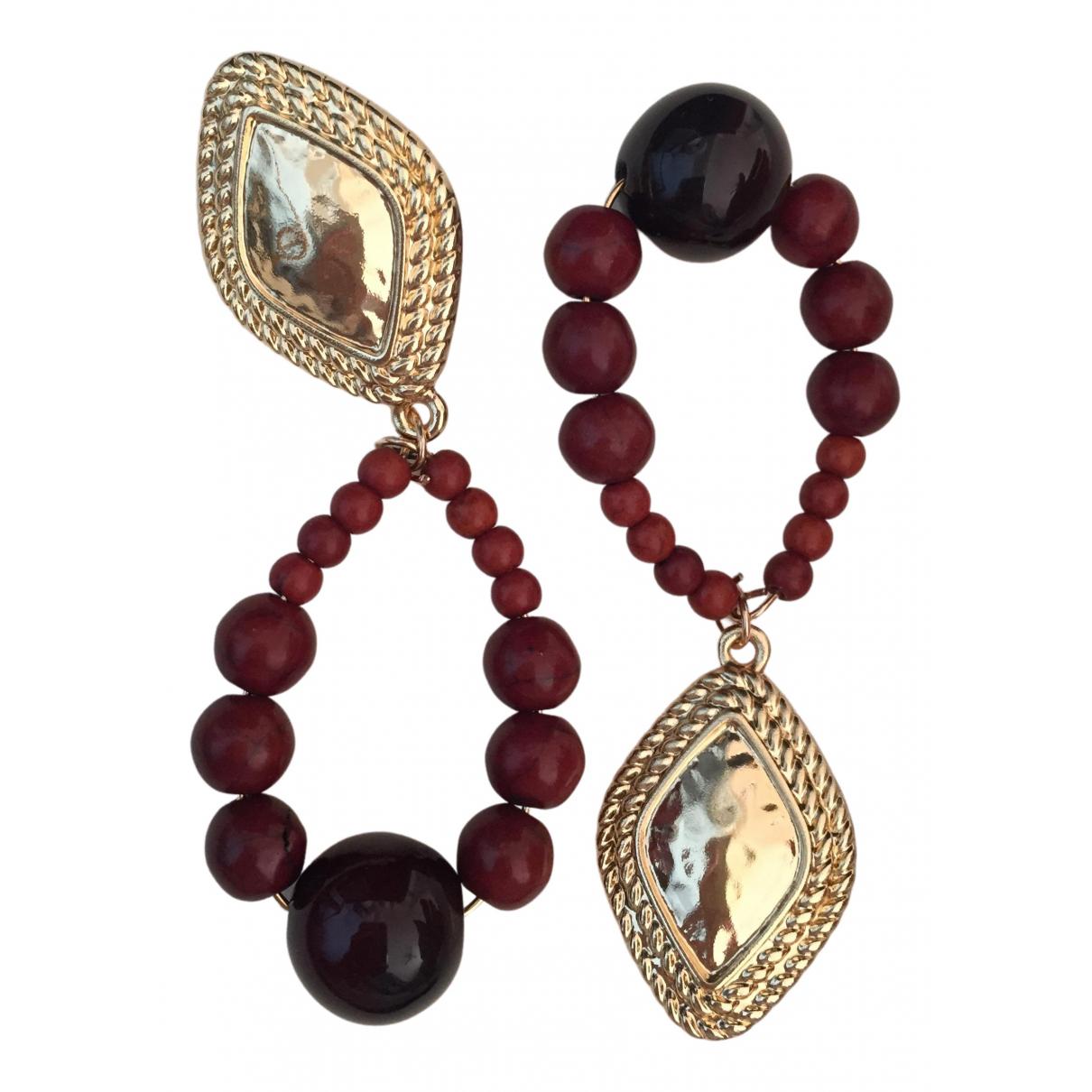 - Boucles doreilles Motifs Ethniques pour femme en cristal - dore