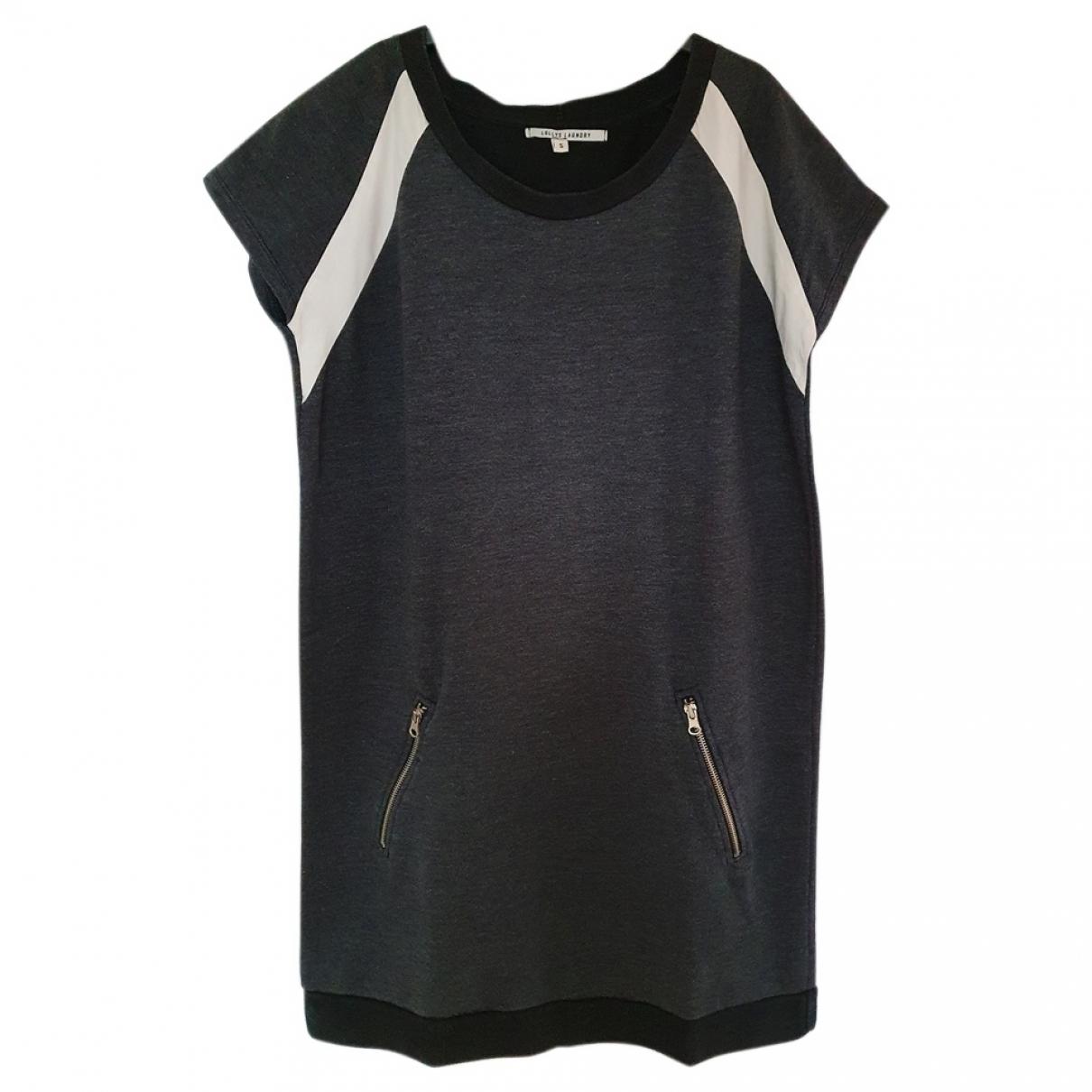 Lollys Laundry - Robe   pour femme en coton - elasthane - gris