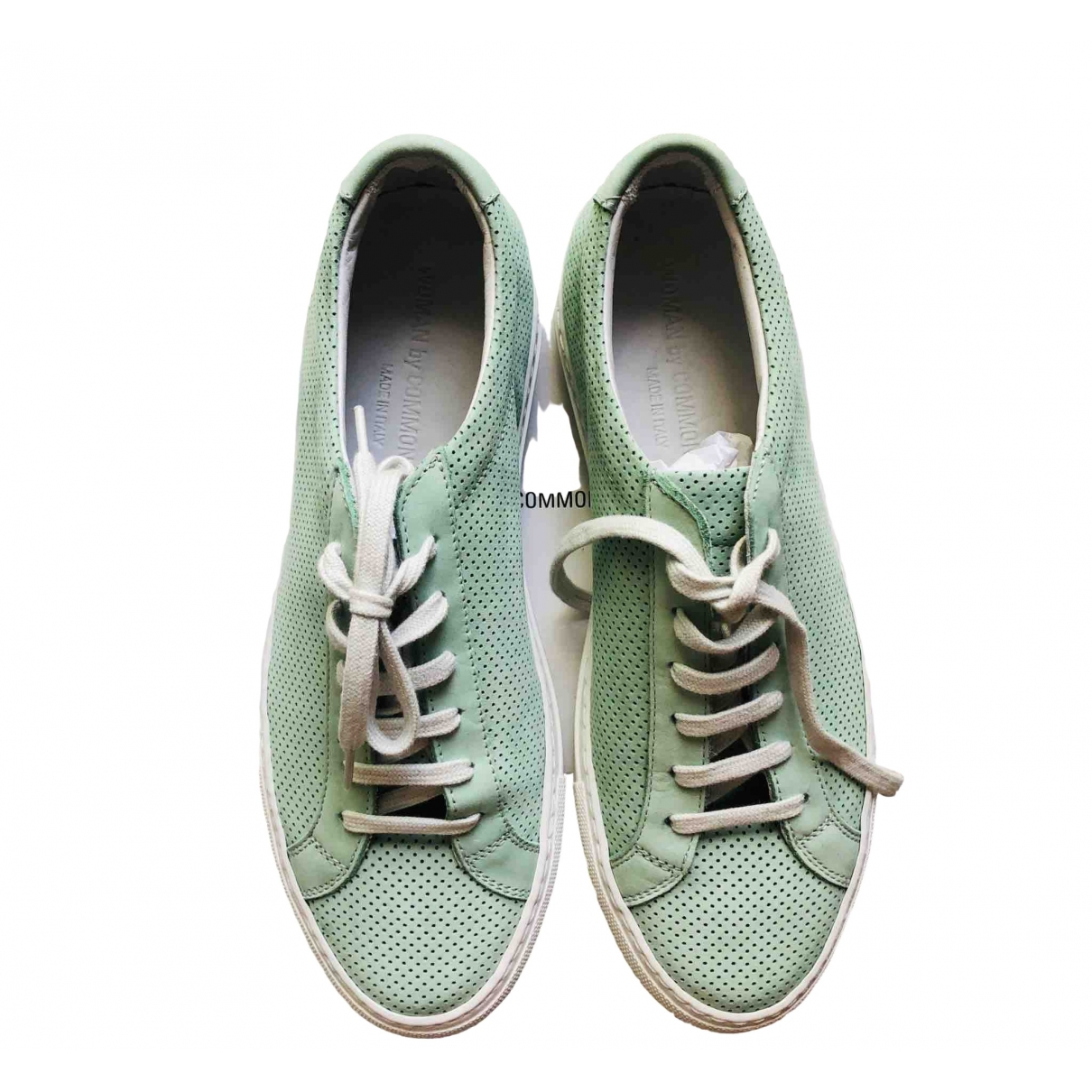 Common Projects \N Green Leather Trainers for Women 38 IT