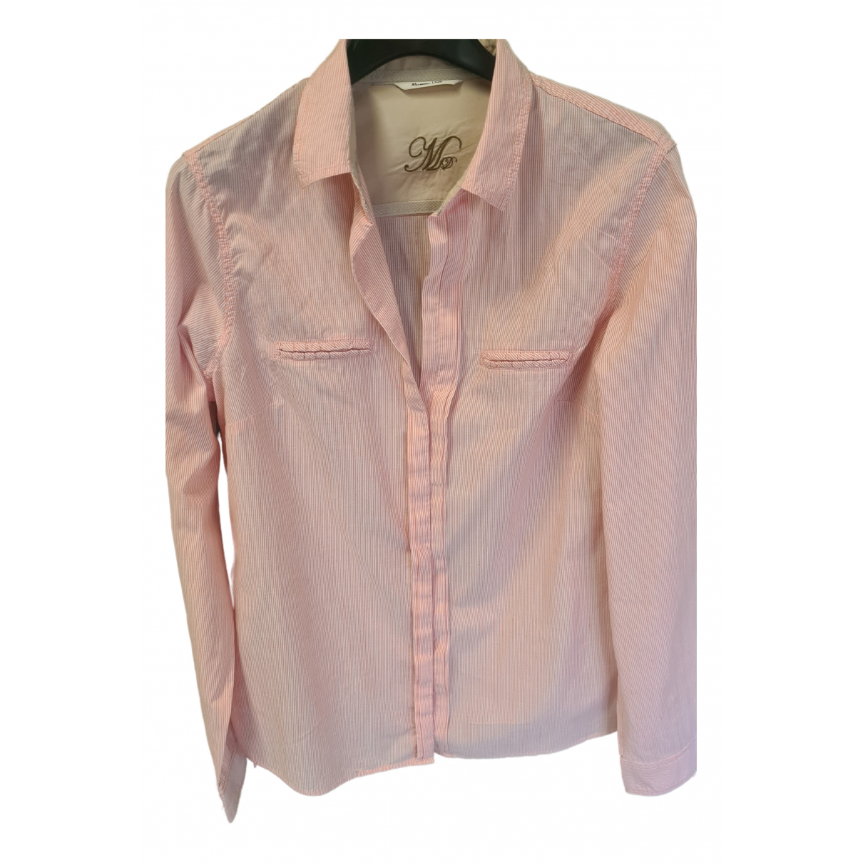 Massimo Dutti N Pink Cotton  top for Women 40 IT