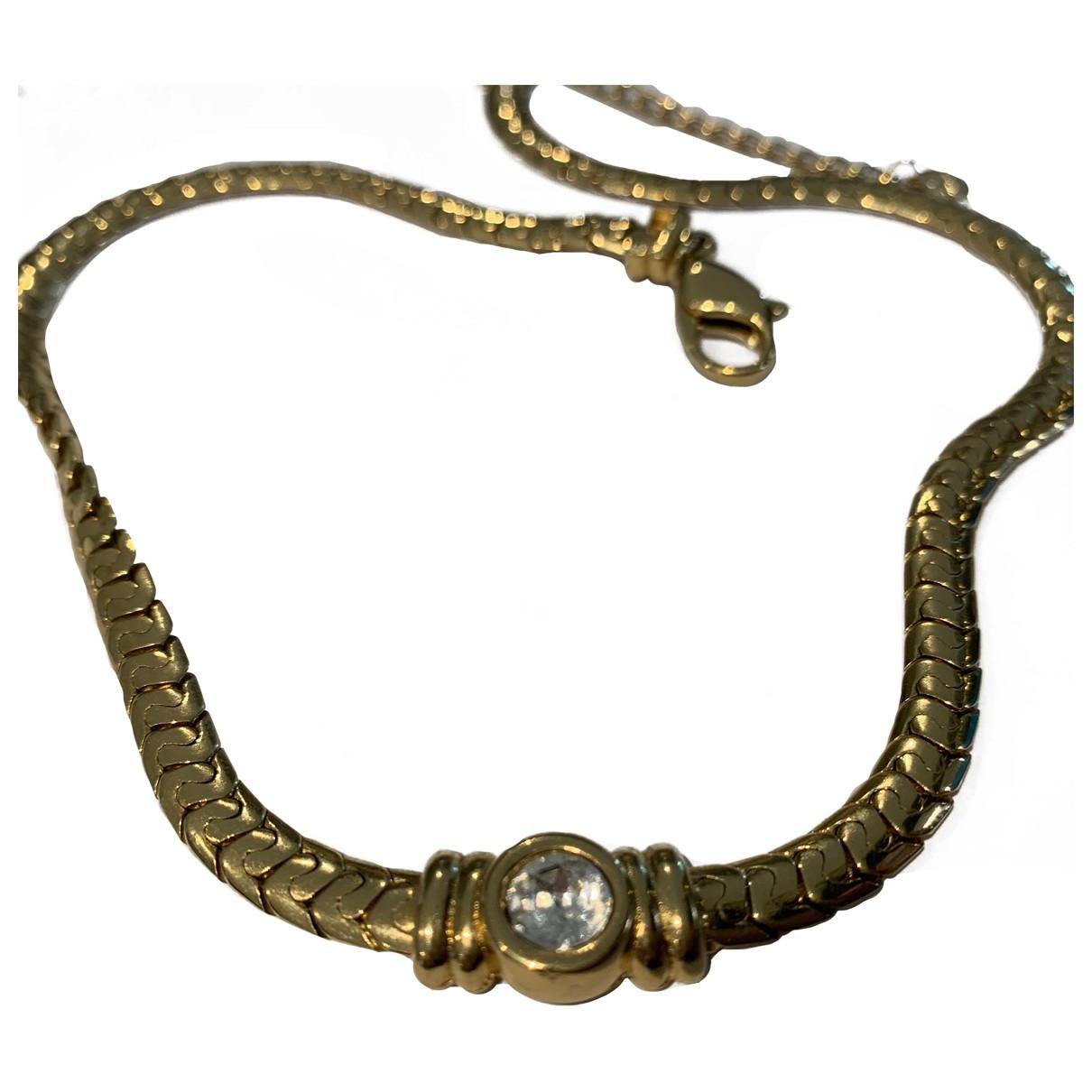 Grosse - Collier   pour femme en plaque or - dore
