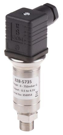 RS PRO Pressure Sensor for Oil, Water , 0.75bar Max Pressure Reading Voltage
