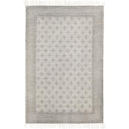 July JUY-2300 9' x 12' Rectangle Traditional Rug in Black