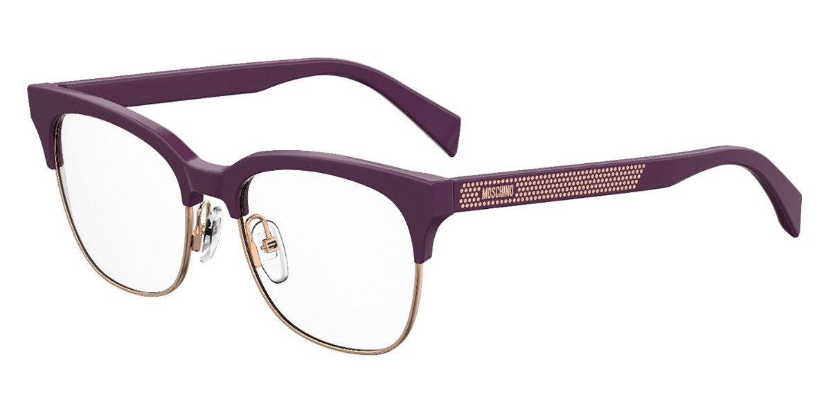 Moschino MOS519 QHO Women's Glasses Violet Size 51 - Free Lenses - HSA/FSA Insurance - Blue Light Block Available