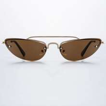 Top Bar Rimless Sunglasses