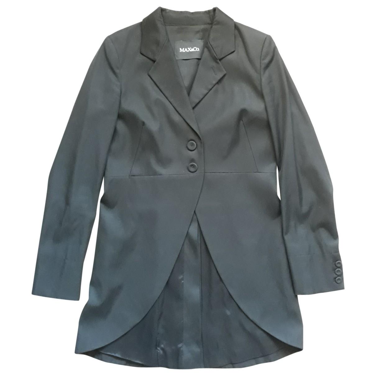 Max & Co \N Black Cotton jacket for Women 44 IT