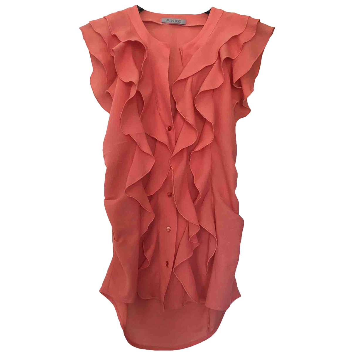 Pinko - Top   pour femme en coton - orange