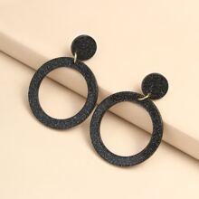 Acrylic Round Drop Earrings