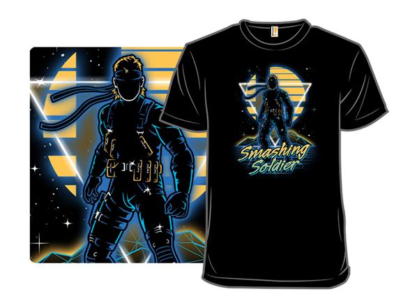 Retro Smashing Soldier T Shirt