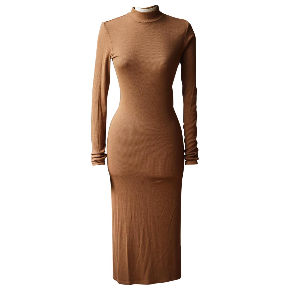 Enza Costa \N Kleid in  Braun Viskose