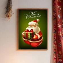 Santa Claus Print Wall Painting Without Frame