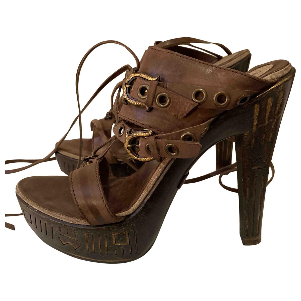 Sandalias de Cuero Gianmarco Lorenzi