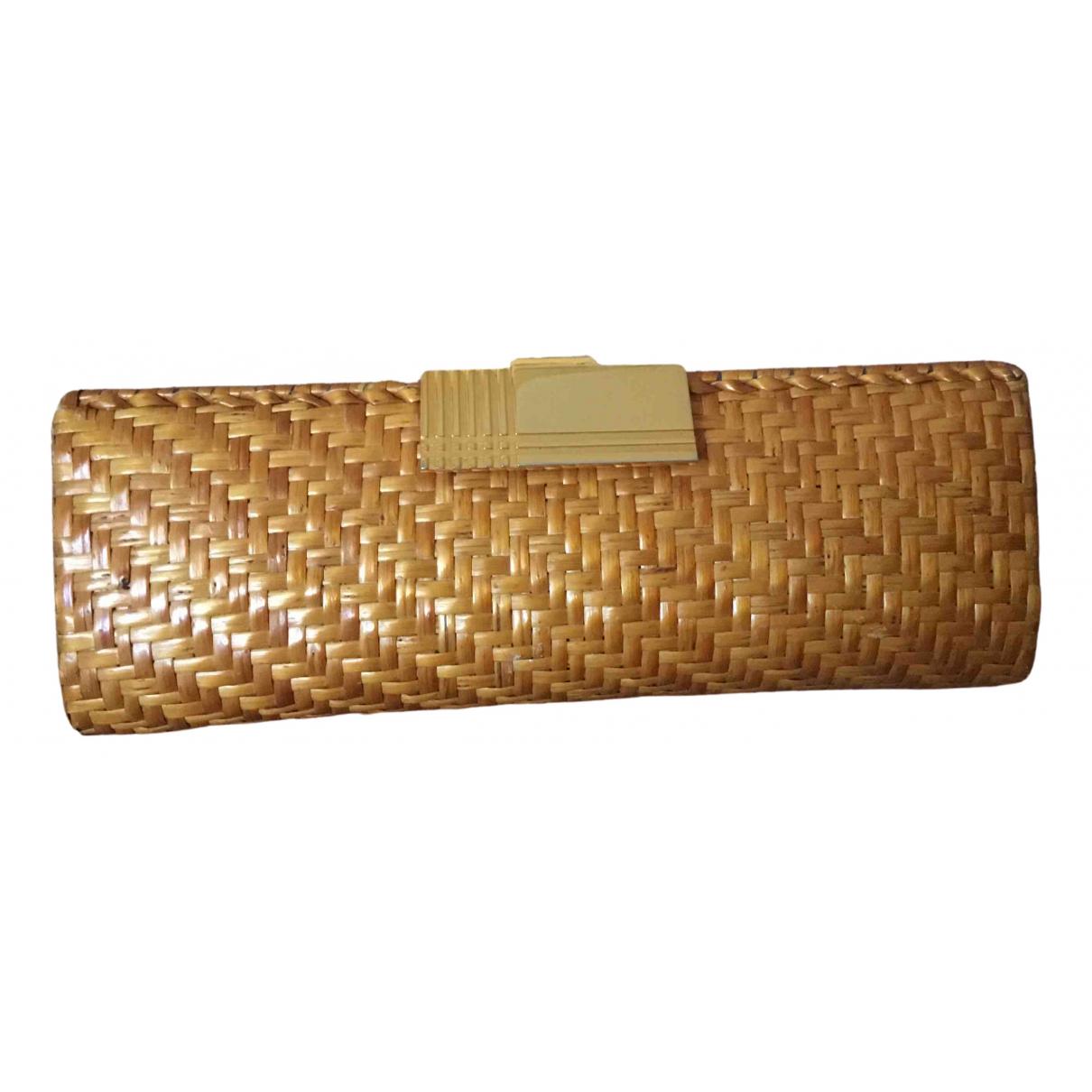 Rodo - Pochette   pour femme en paille - jaune