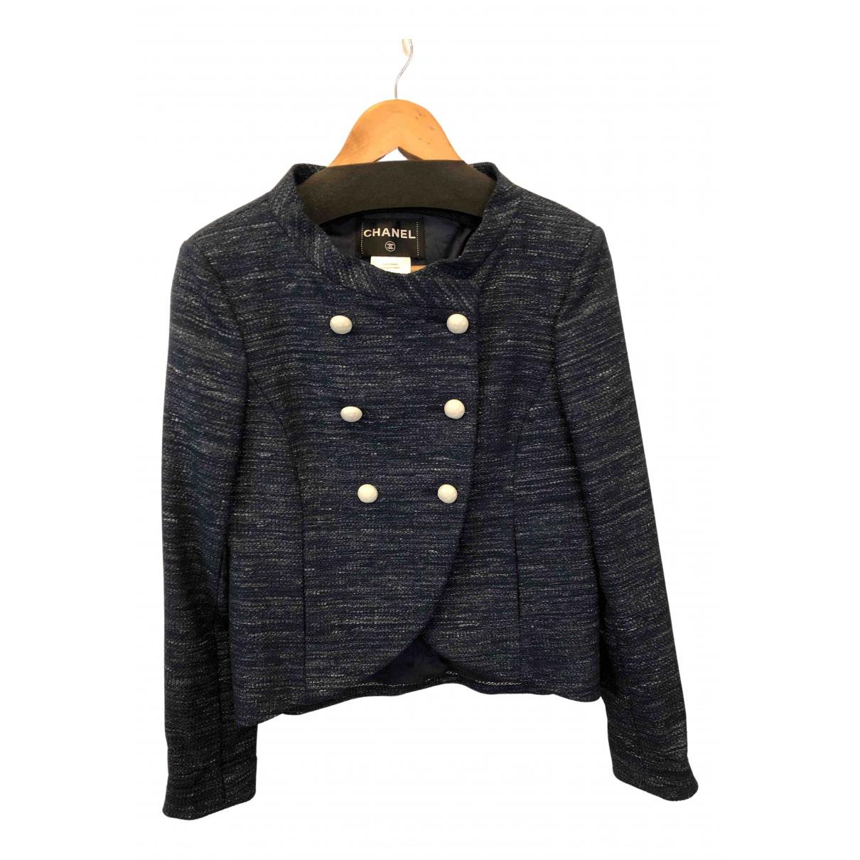 Chanel N Blue Cotton jacket for Women 40 IT