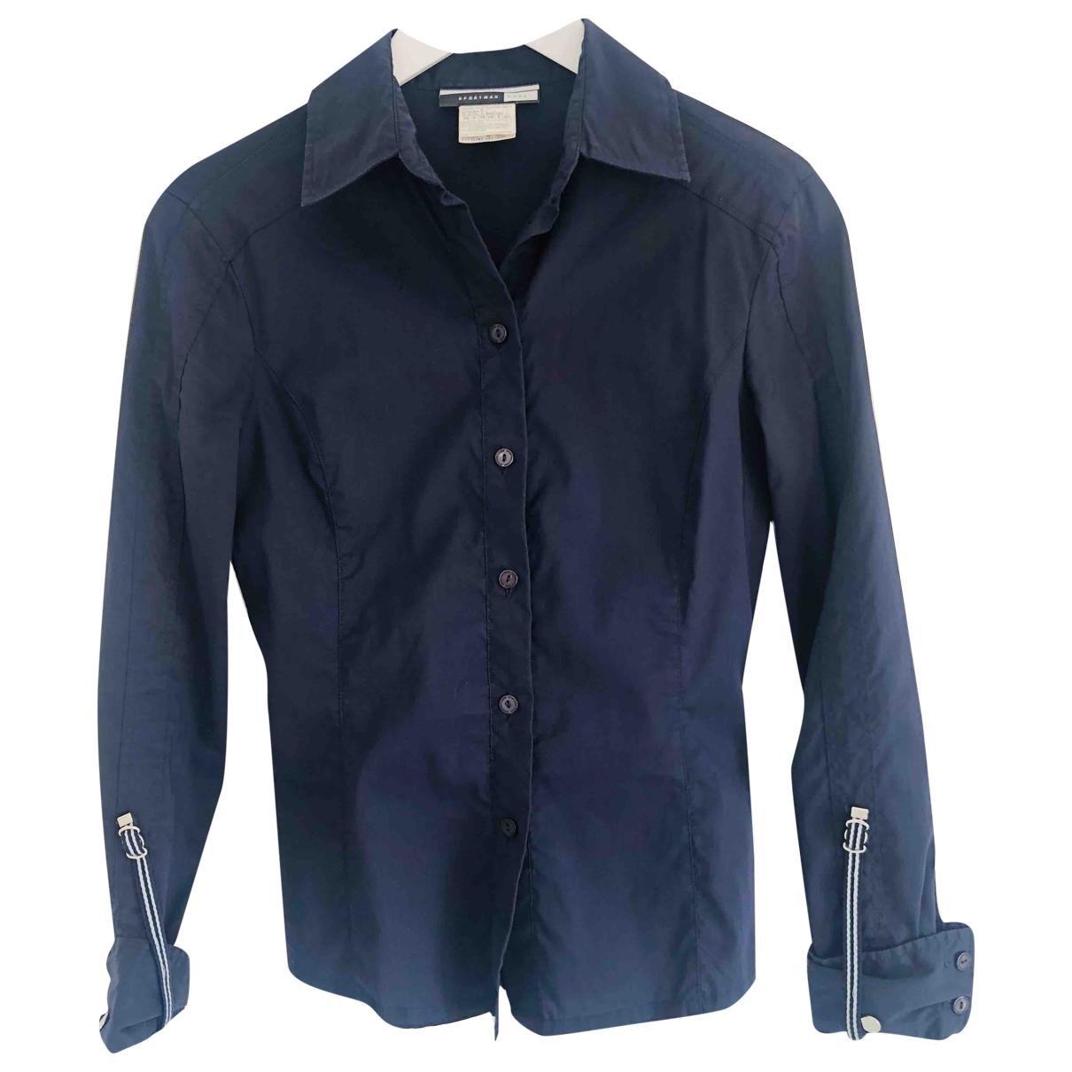 Sport Max - Top   pour femme en coton - bleu