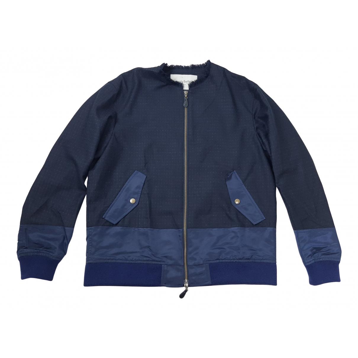 Casely-hayford - Vestes.Blousons   pour homme en laine - marine