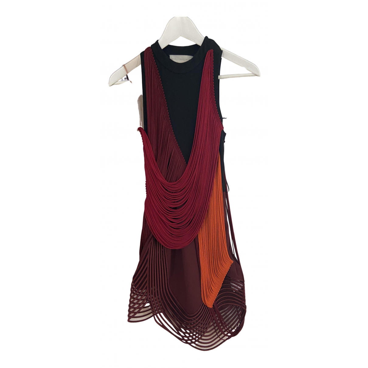 Stella Mccartney N Burgundy Silk dress for Women 36 FR