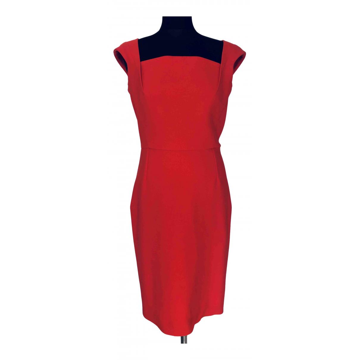 Roland Mouret \N Kleid in  Orange Polyester