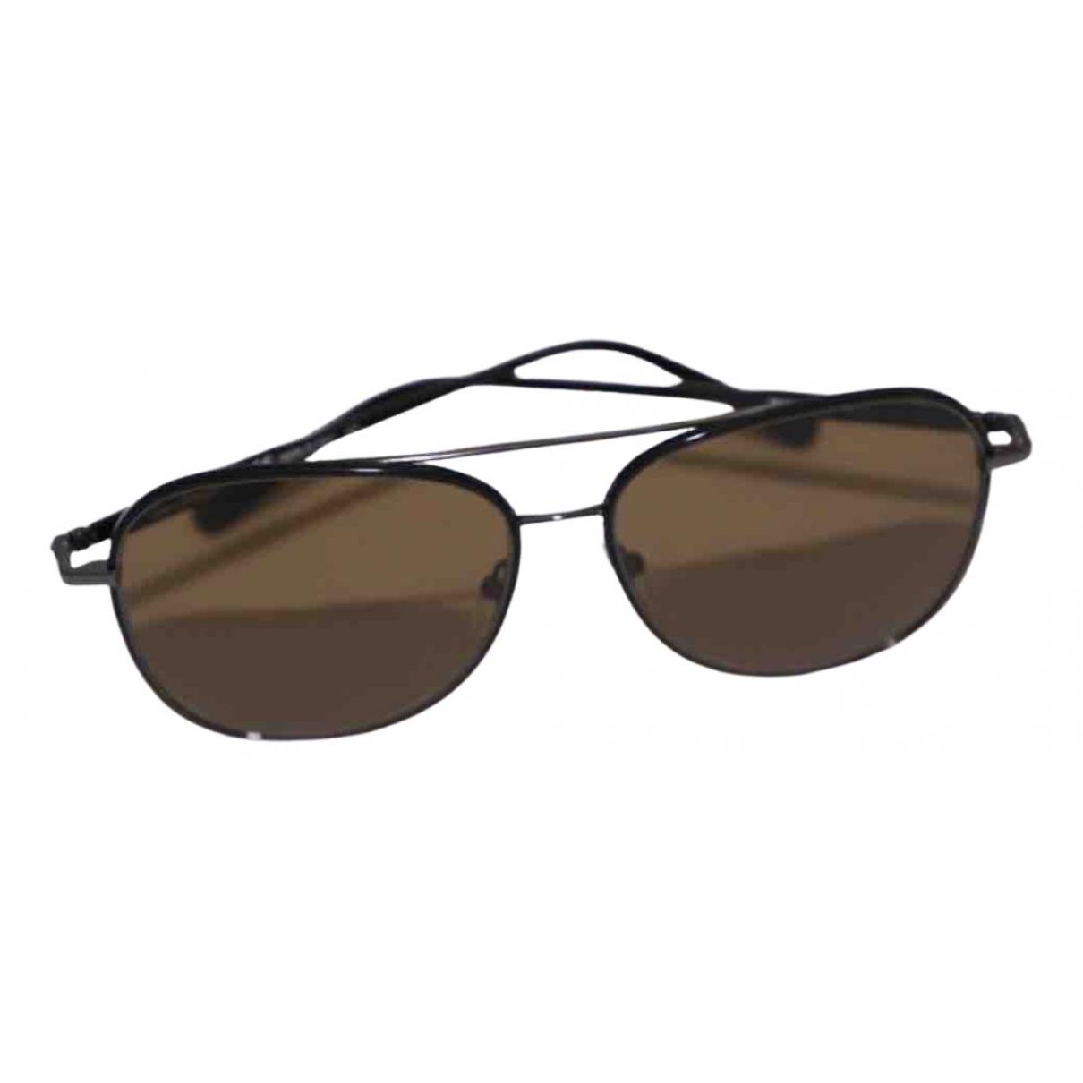 Salvatore Ferragamo \N Brown Metal Sunglasses for Men \N