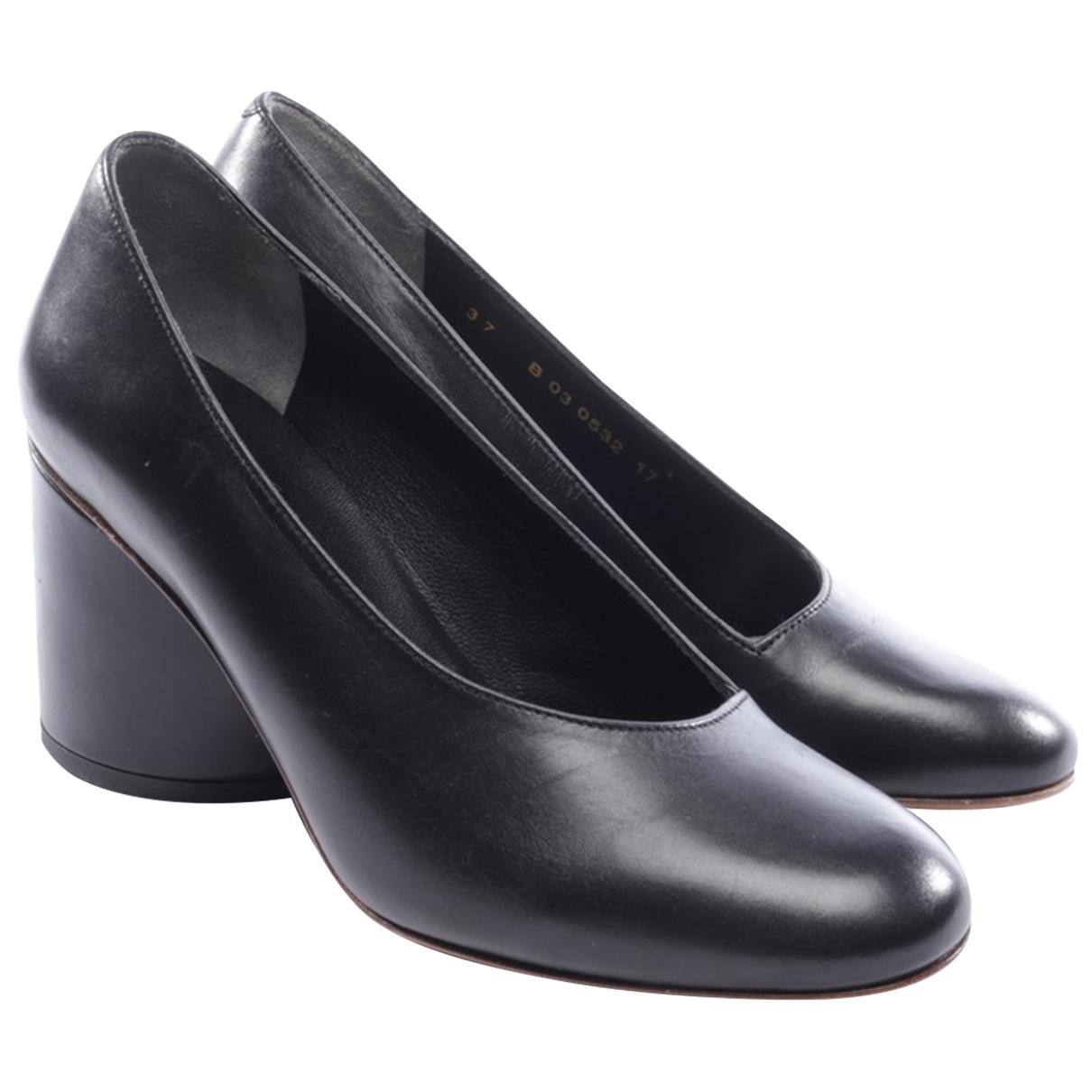 Robert Clergerie N Black Leather Heels for Women 39.5 EU