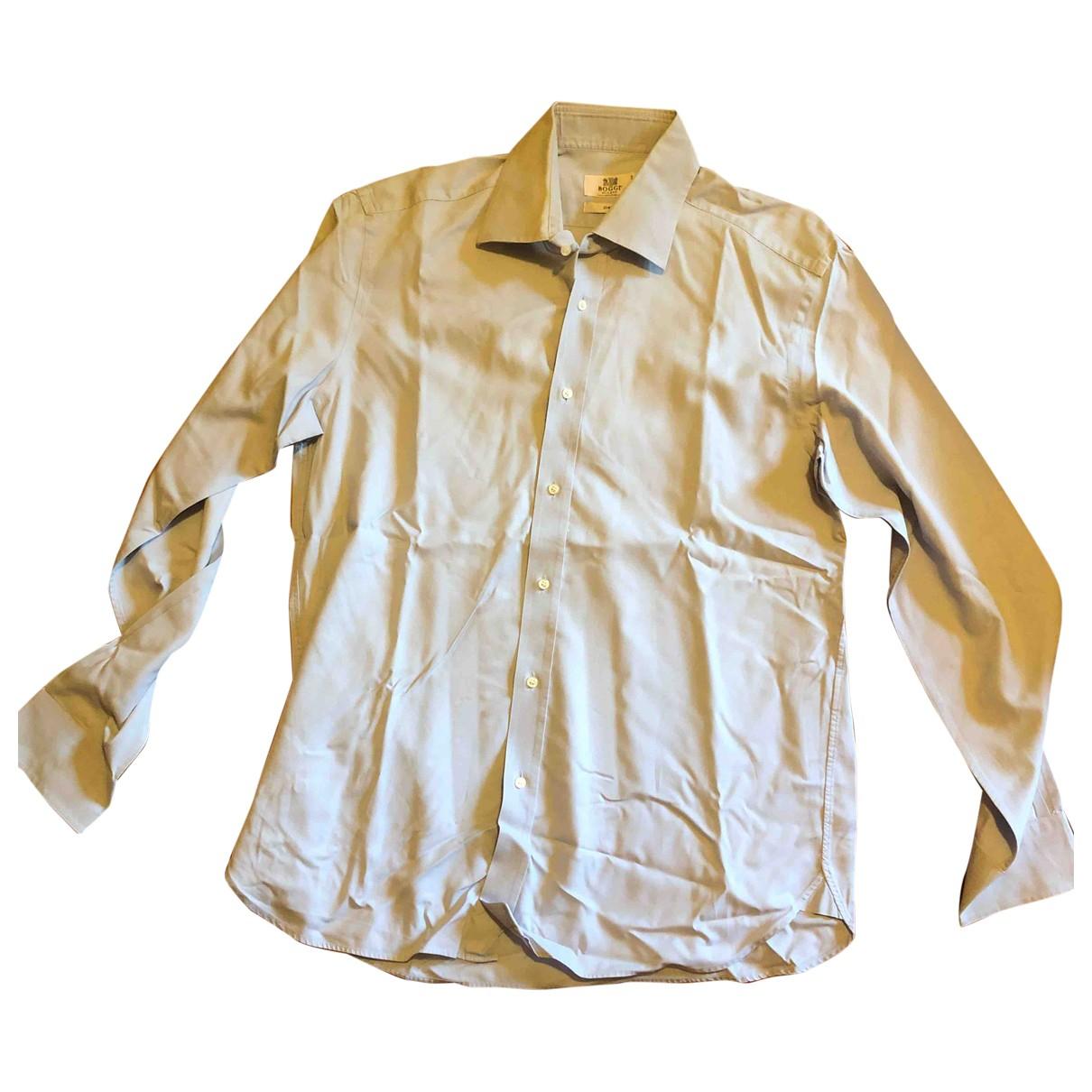 Boggi - Chemises   pour homme en coton - bleu