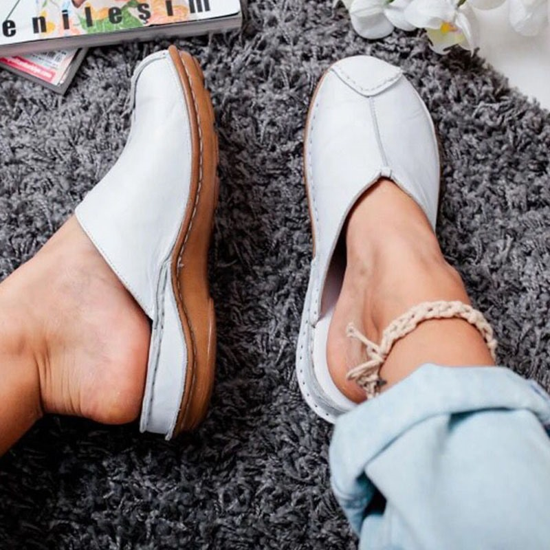 Ericdress Slip-On Closed Toe Thread Rubber Women's Slippers