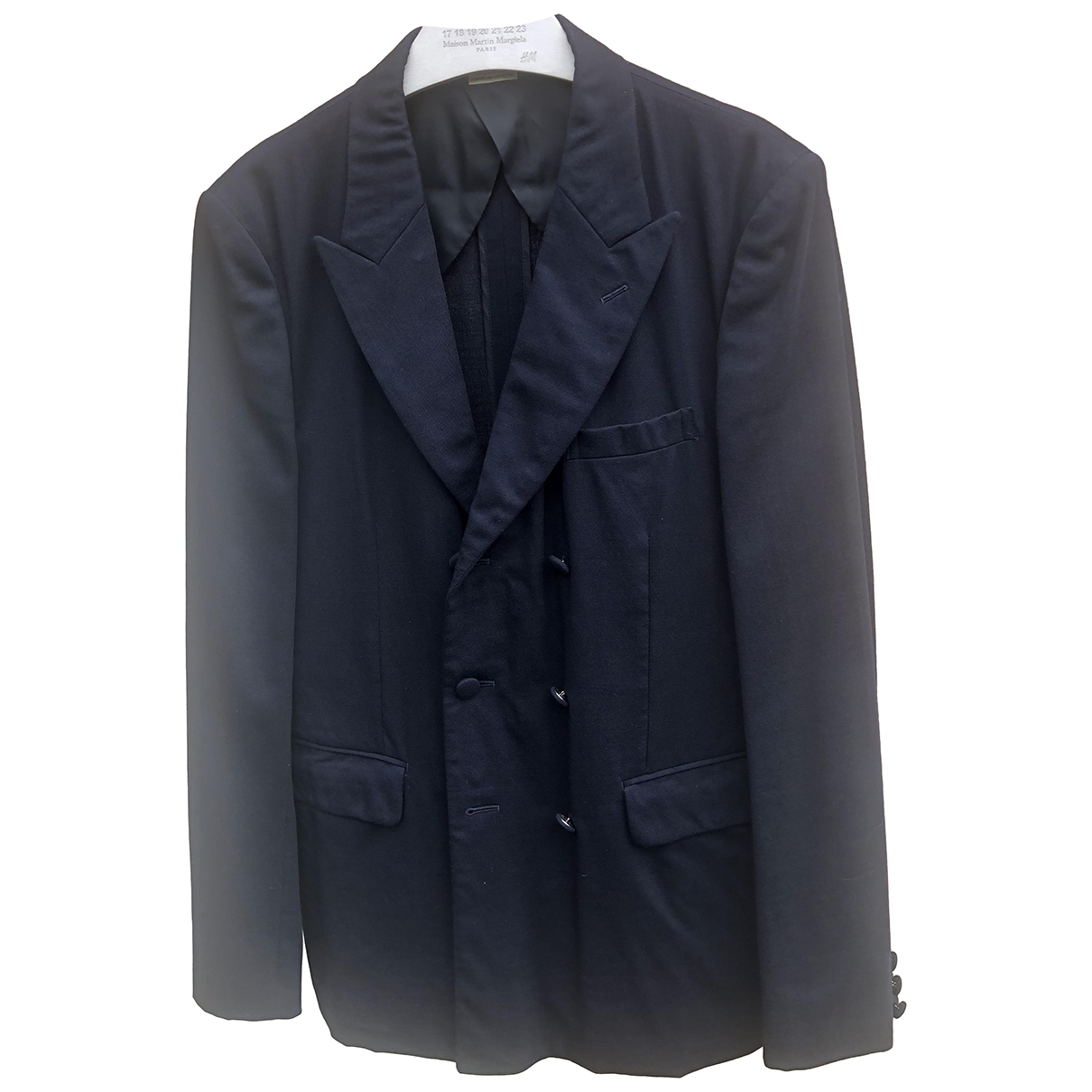 Comme Des Garcons \N Jacke in  Marine Wolle