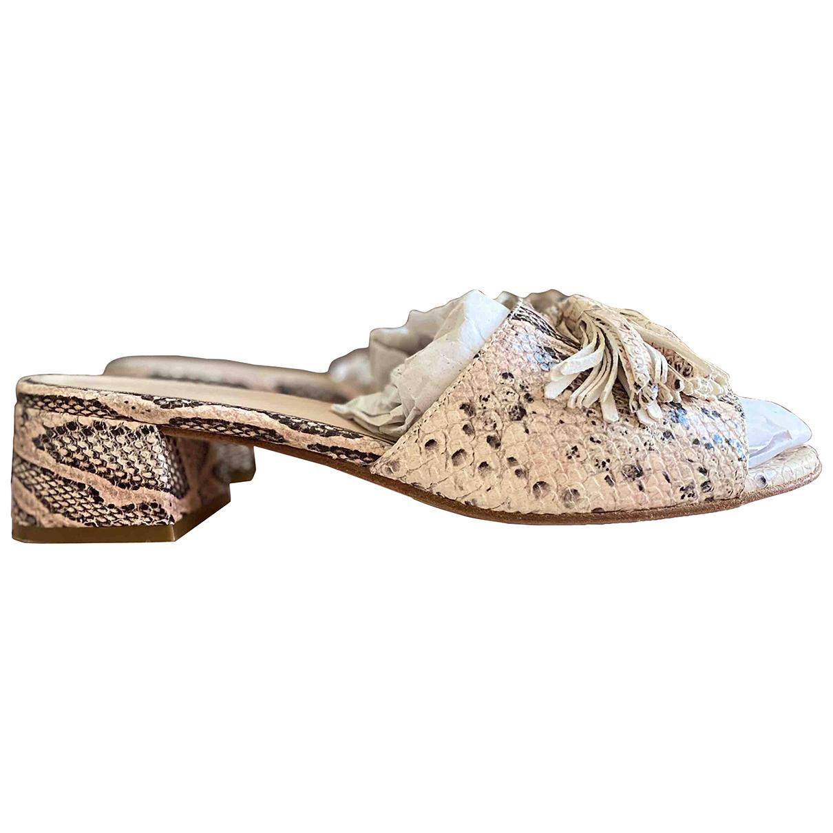 - Sandales Hippie Chic pour femme en cuir - rose