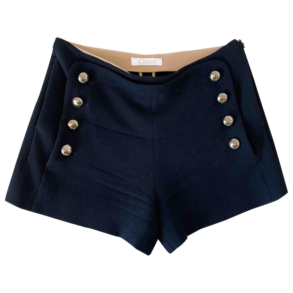 Chloé \N Black Wool Shorts for Women 38 FR