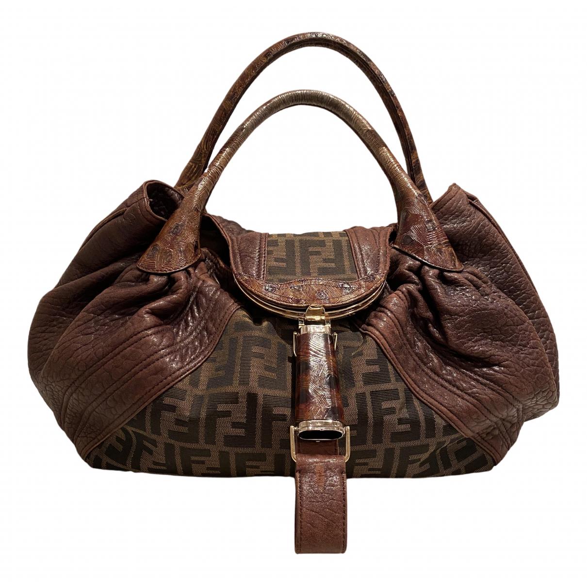 Fendi Spy Brown Cloth handbag for Women N