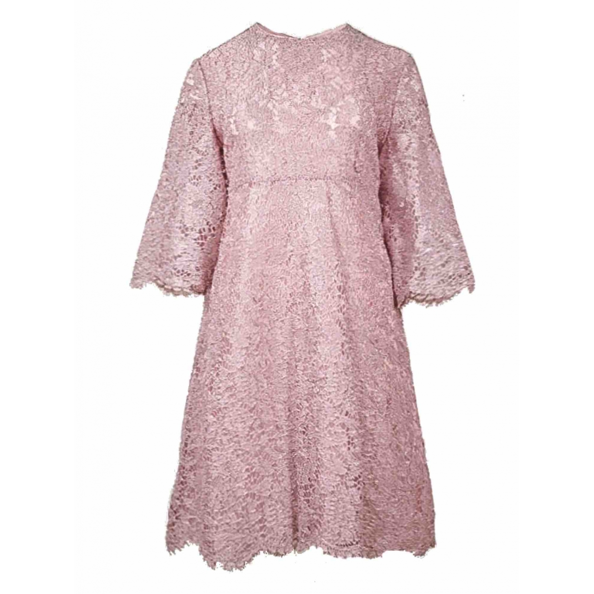 Valentino Garavani \N Kleid in  Rosa Viskose