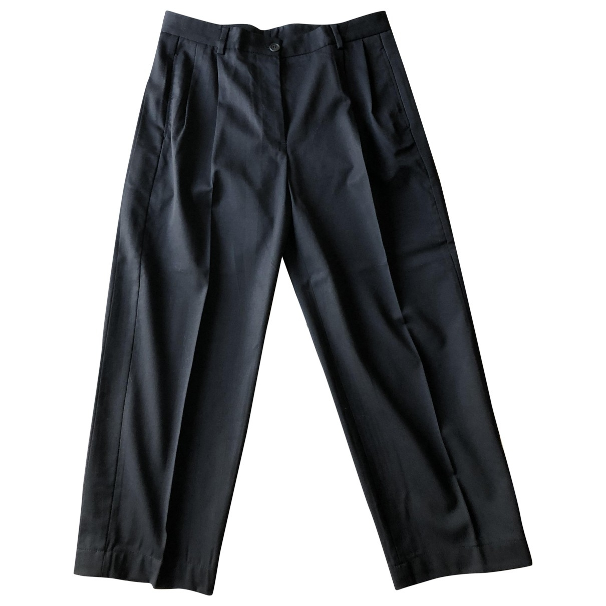 Mauro Grifoni \N Black Wool Trousers for Women 40 IT