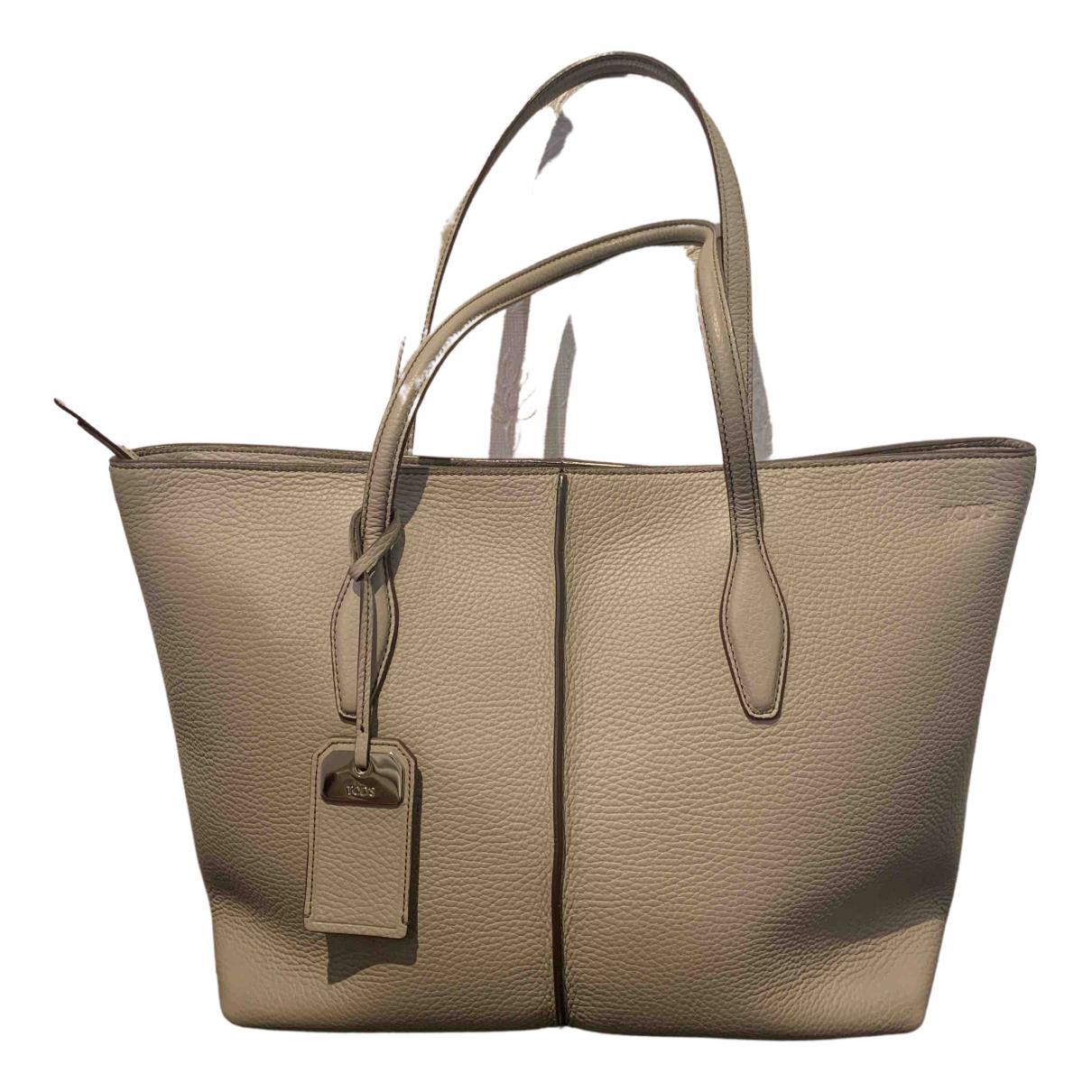 Tod's N Grey Leather handbag for Women N