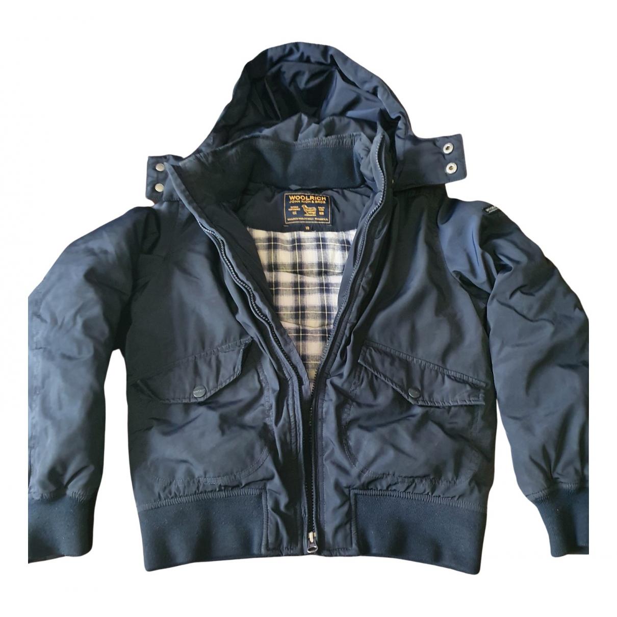 Woolrich - Blousons.Manteaux   pour enfant en coton - bleu